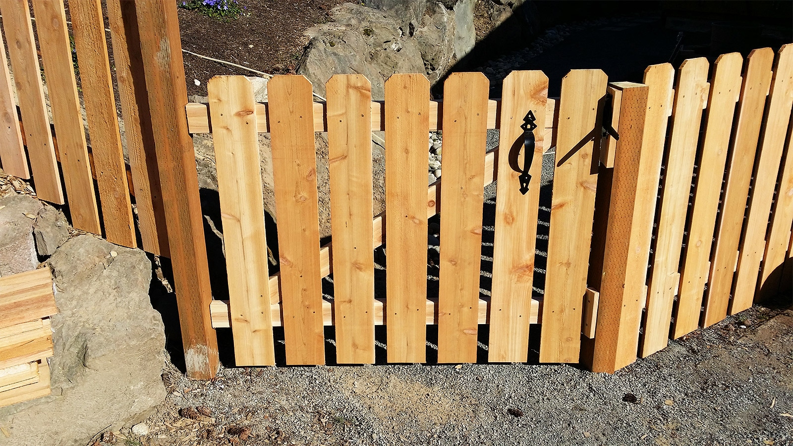 3ft Tall Dog Earred Cedar Fence with Matching Gate