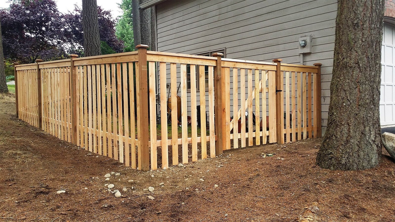 Open Board Cedar Panel Fence